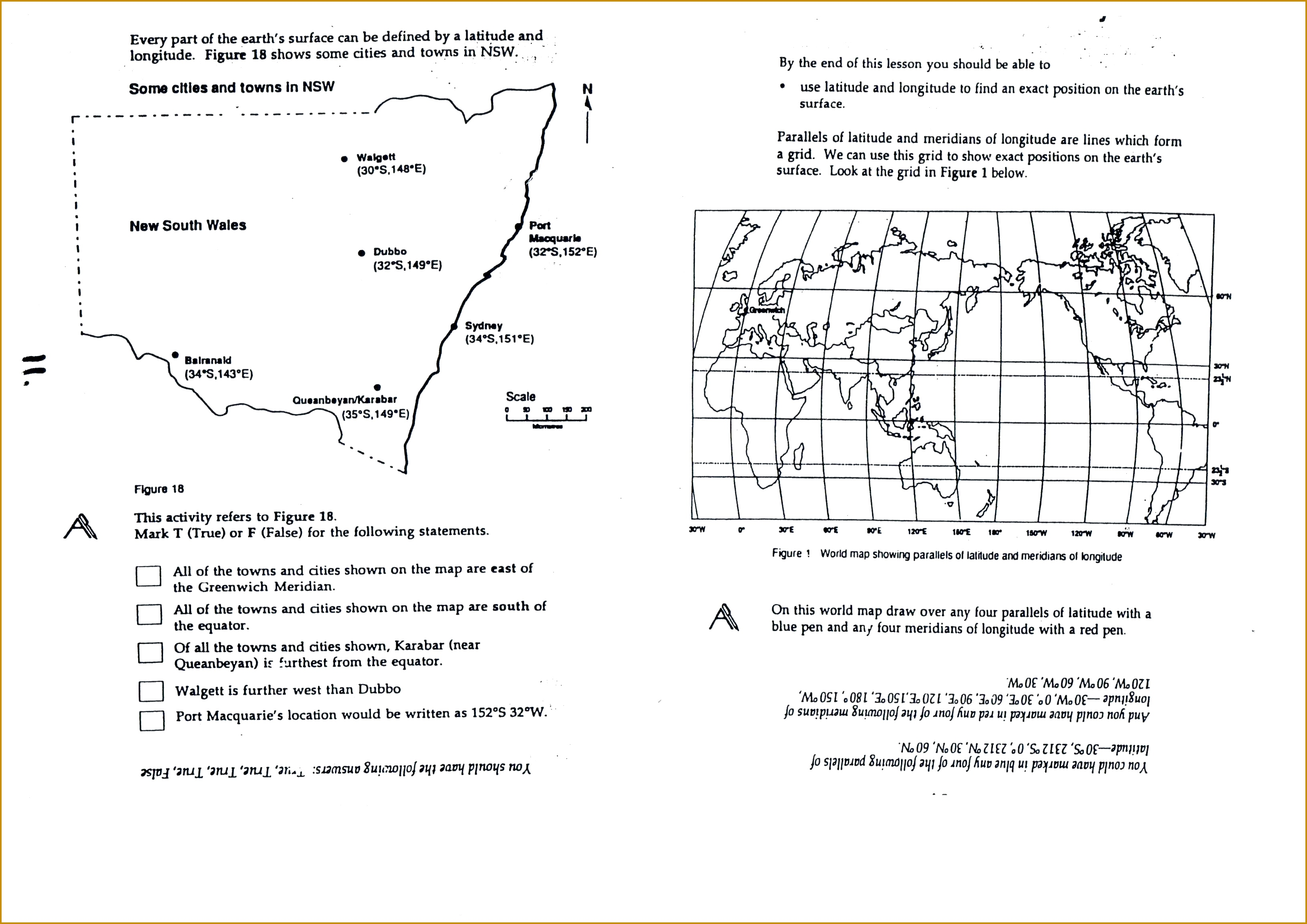 3 Longitude And Latitude Worksheets