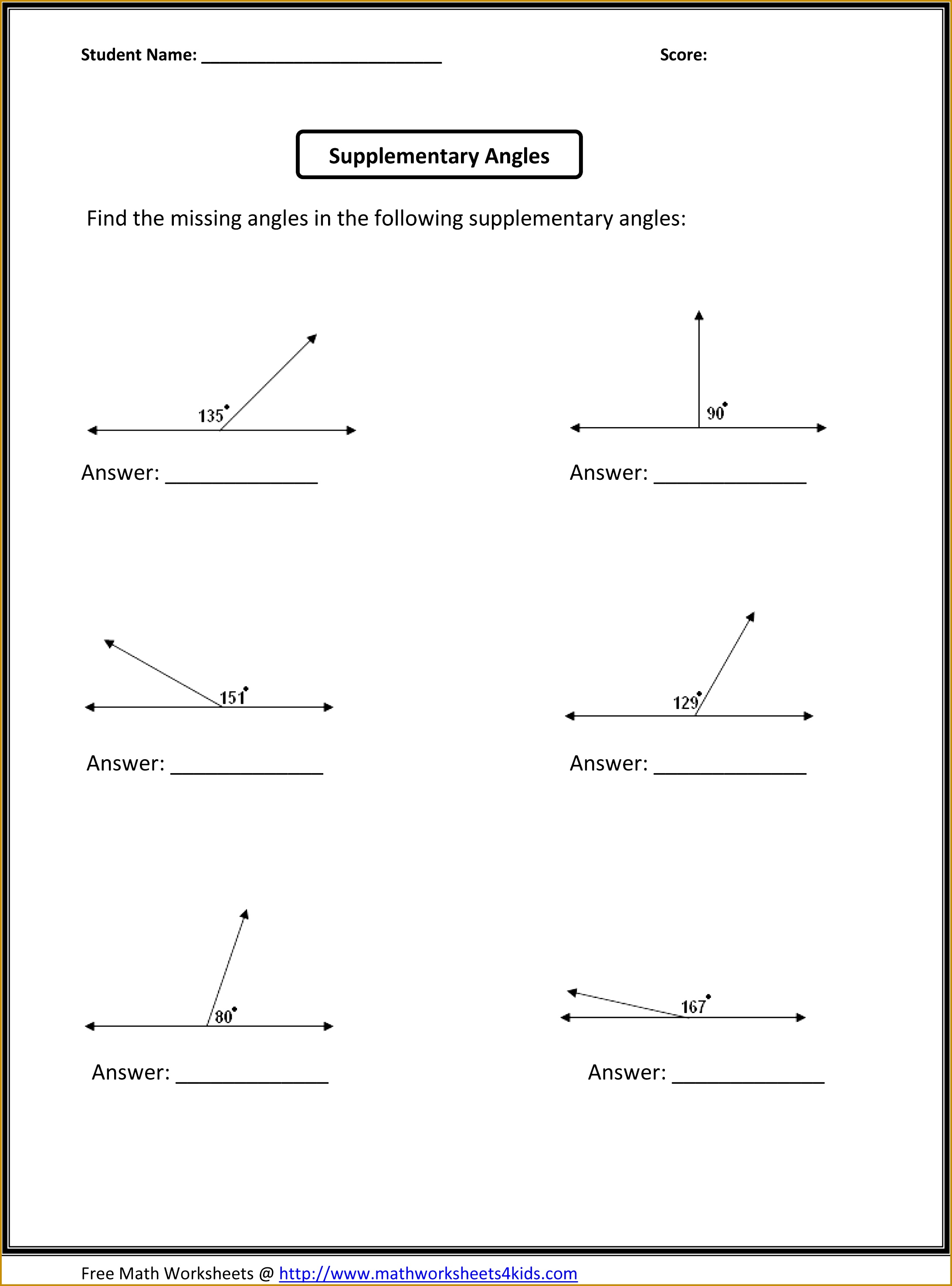 7 Math Worksheets Grade 5