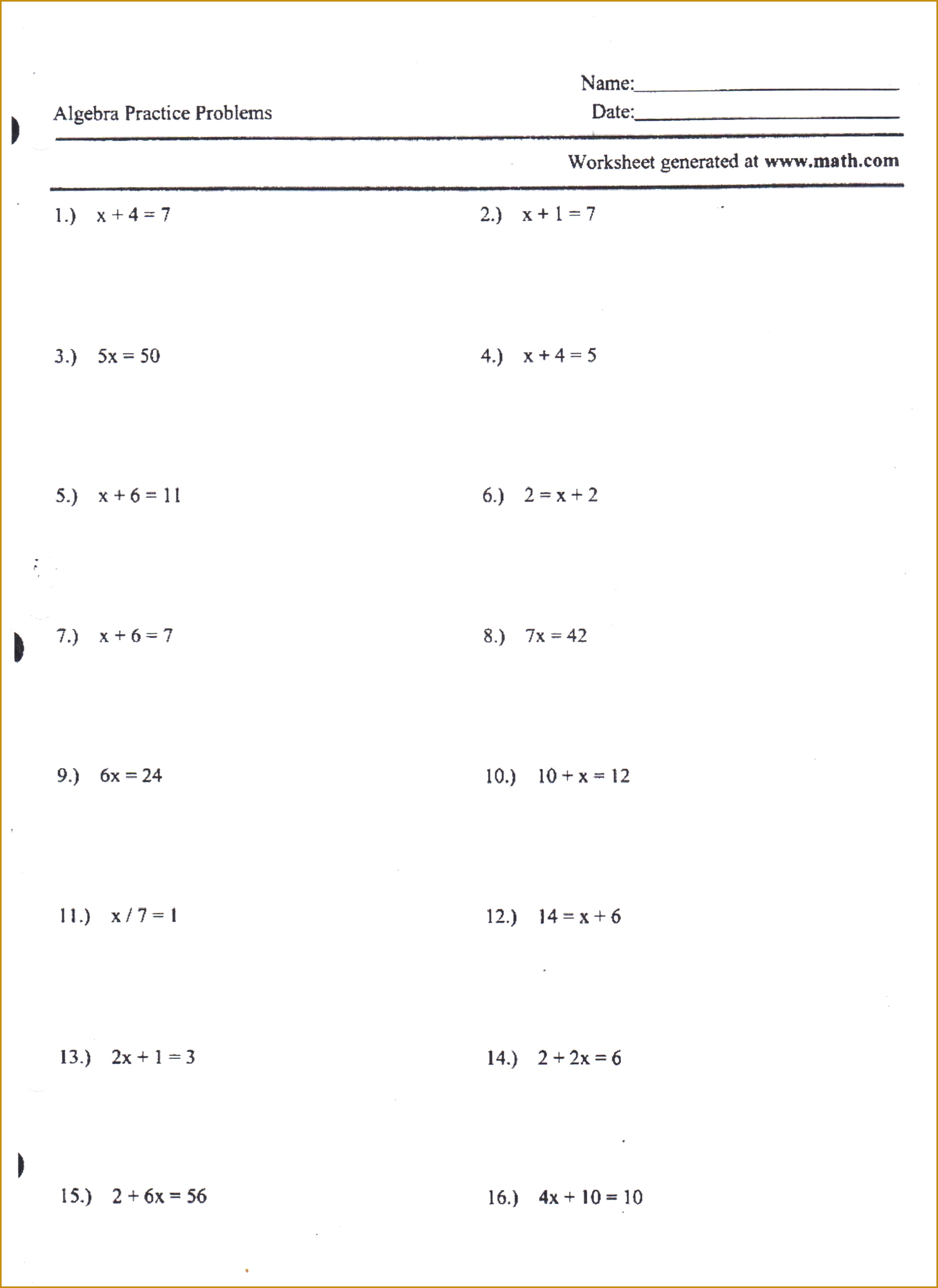 4 Mole Worksheet 2
