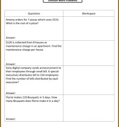 Dividing Fractions Story Problems Worksheet   Printable Worksheets and  Activities for Teachers [ 1607 x 1190 Pixel ]