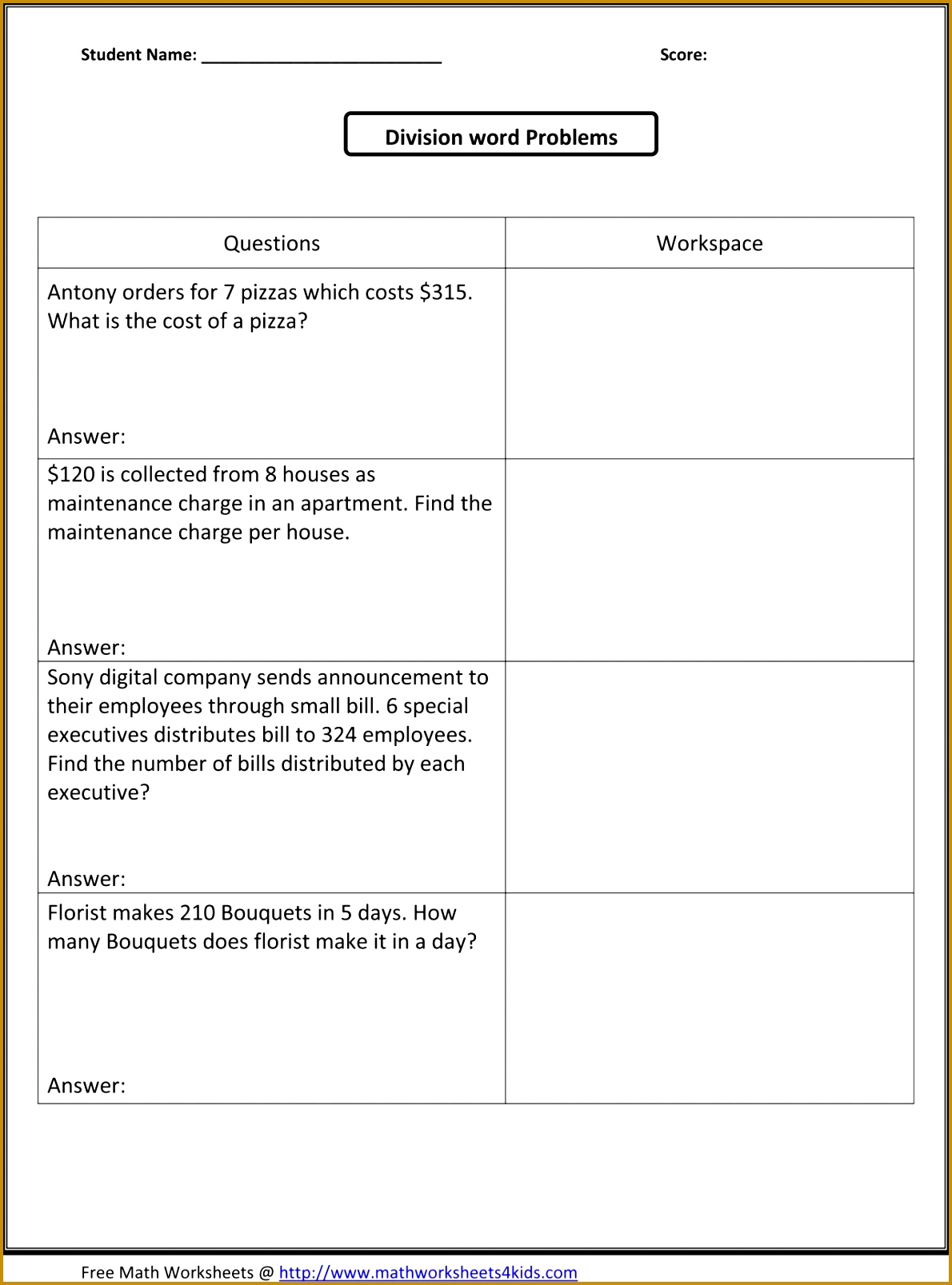 hight resolution of Dividing Fractions Story Problems Worksheet   Printable Worksheets and  Activities for Teachers