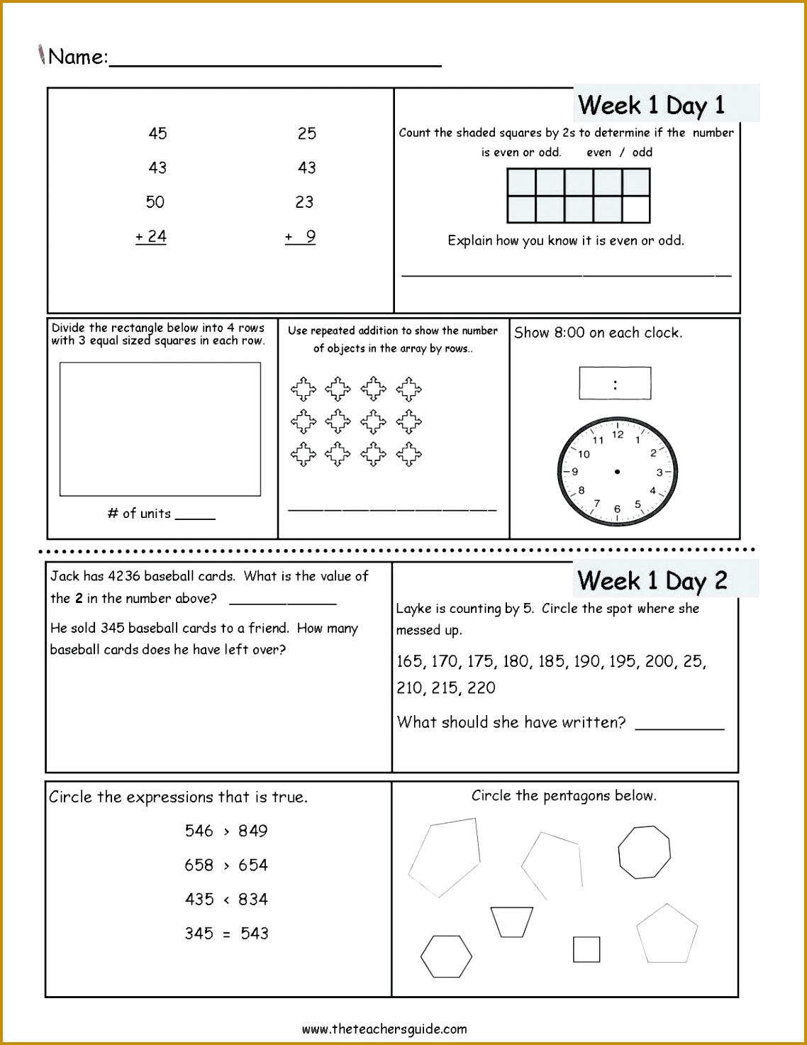 5 Multiplying Fractions Worksheets