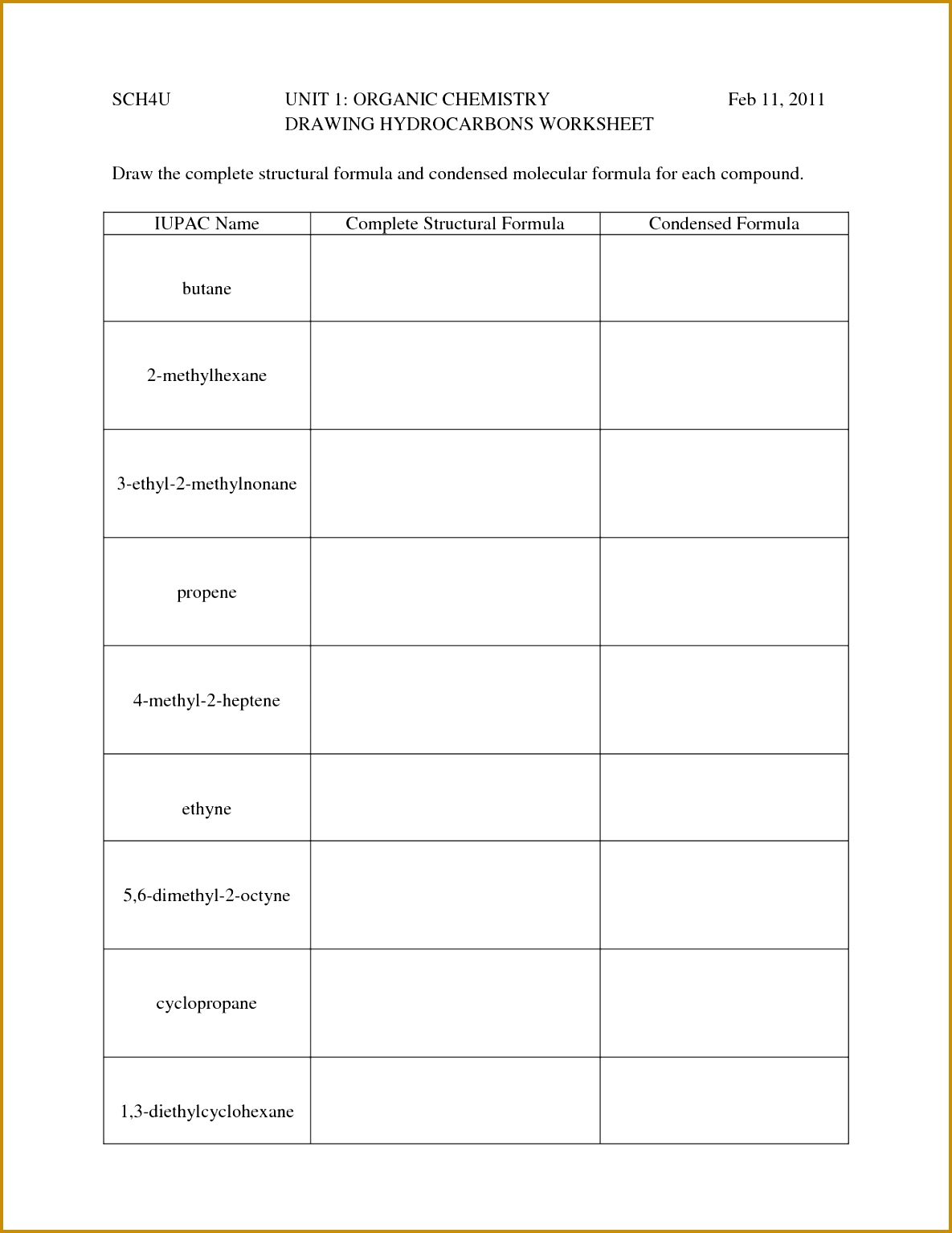 4 Naming Acids Worksheet