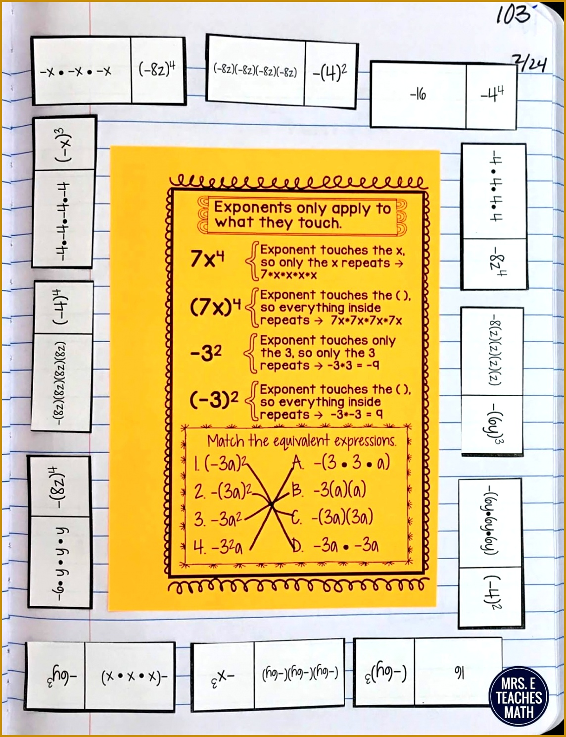 5 Negative Exponents Worksheet