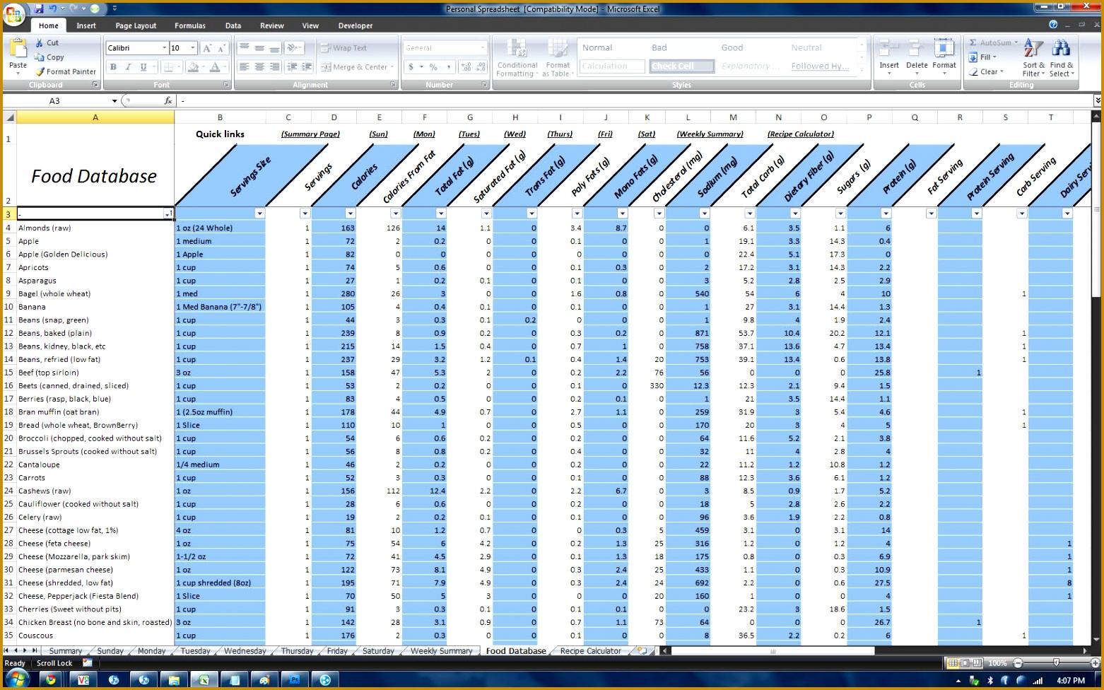 6 P90x Worksheets