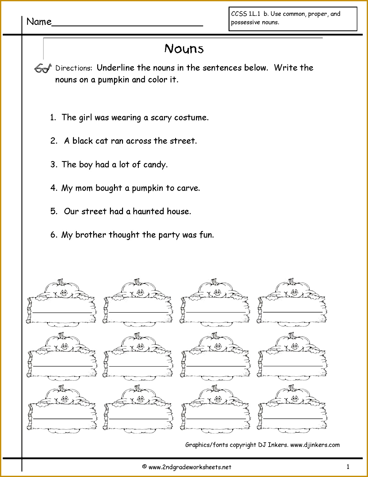 7 Possessive Nouns Worksheets