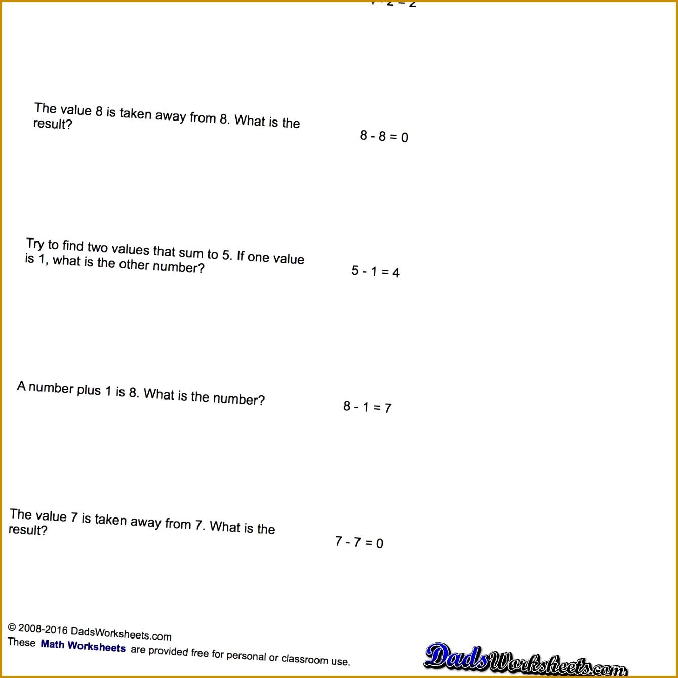 4 Pre Algebra Worksheets