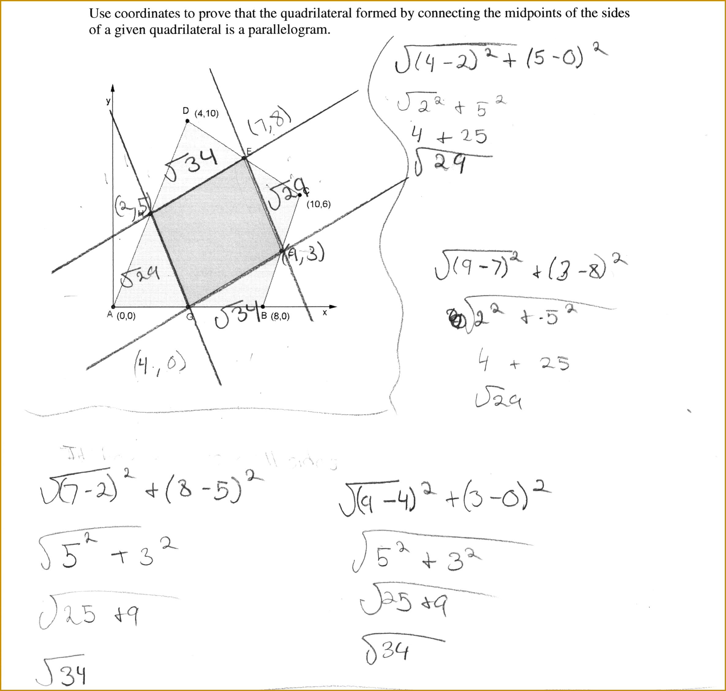 Properties Of Quadrilaterals Worksheet With Answers