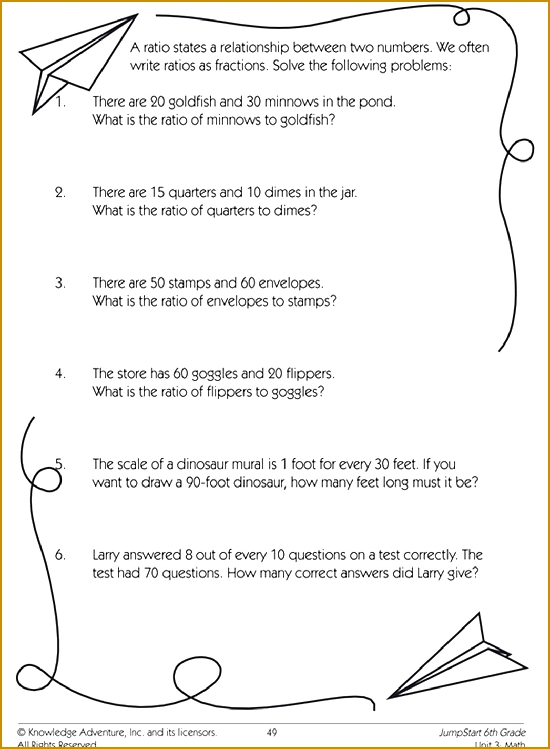6 Proportions Worksheet