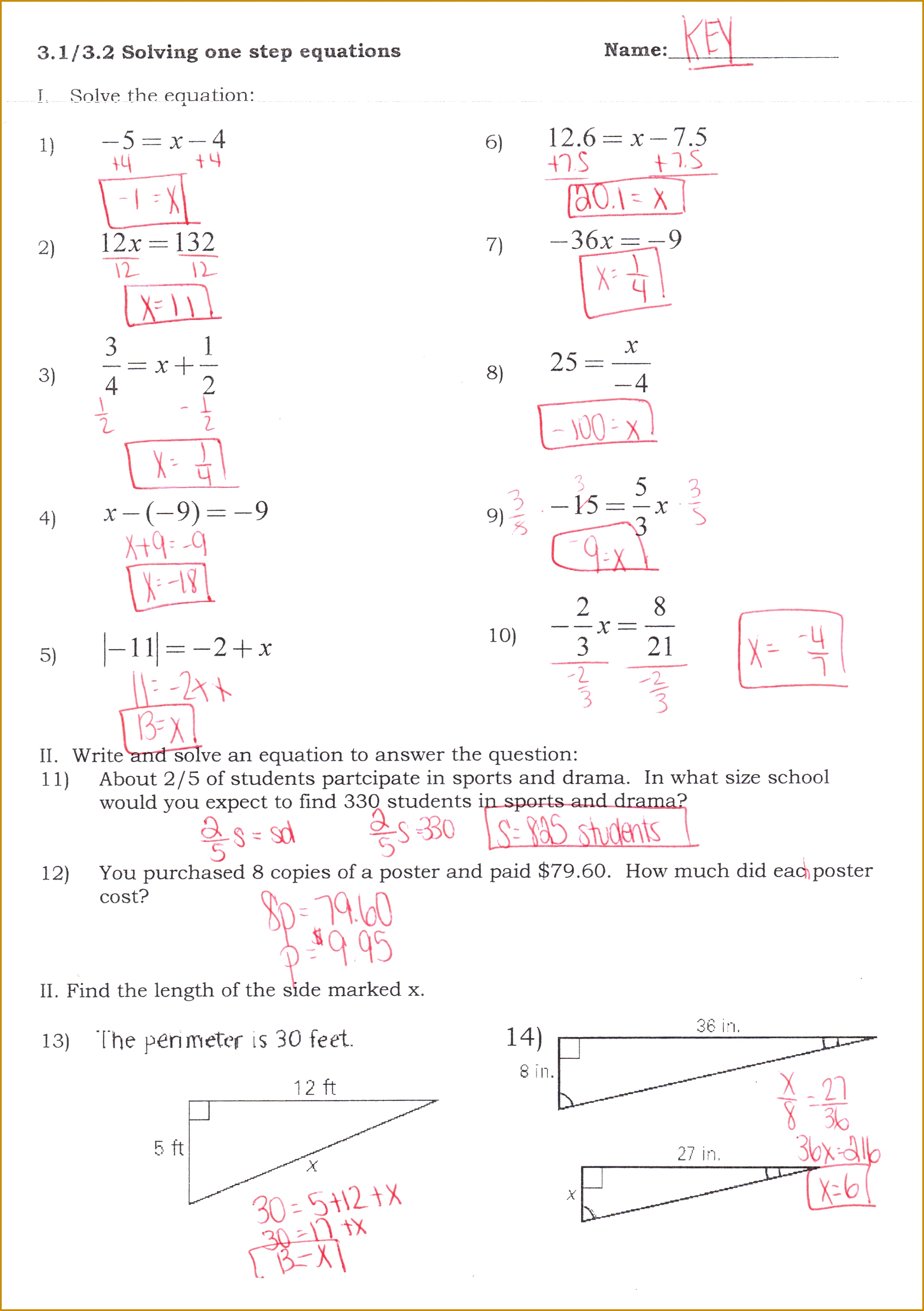 5 Solving Linear Equations Worksheet