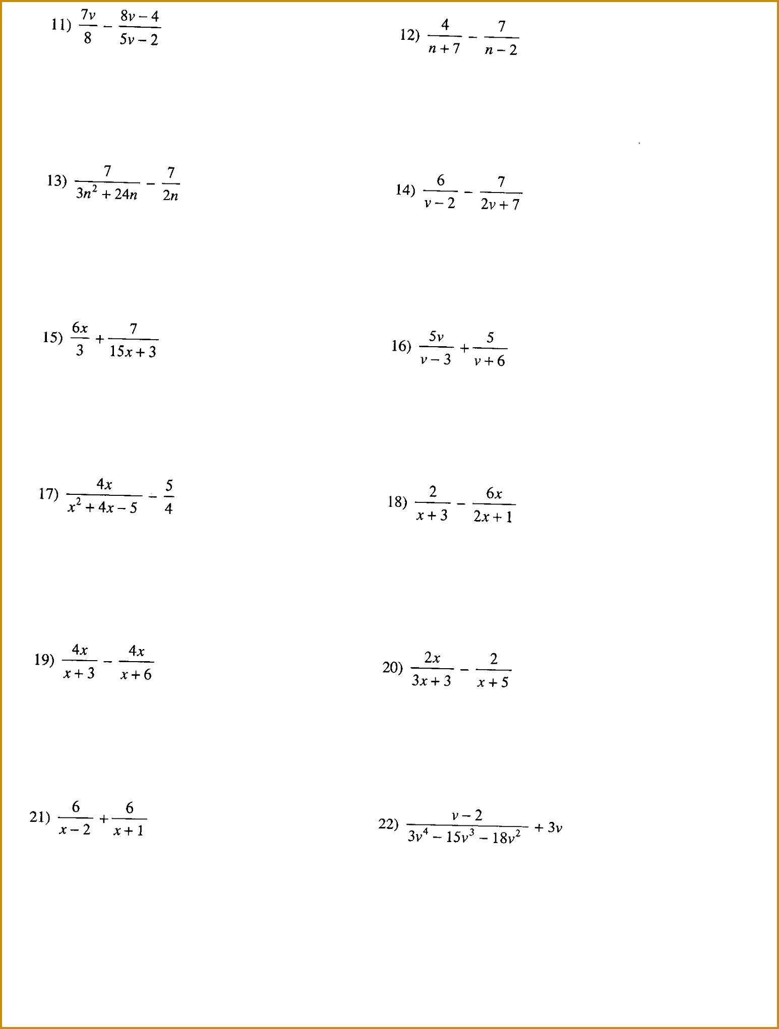 6 Solving Radical Equations Worksheet