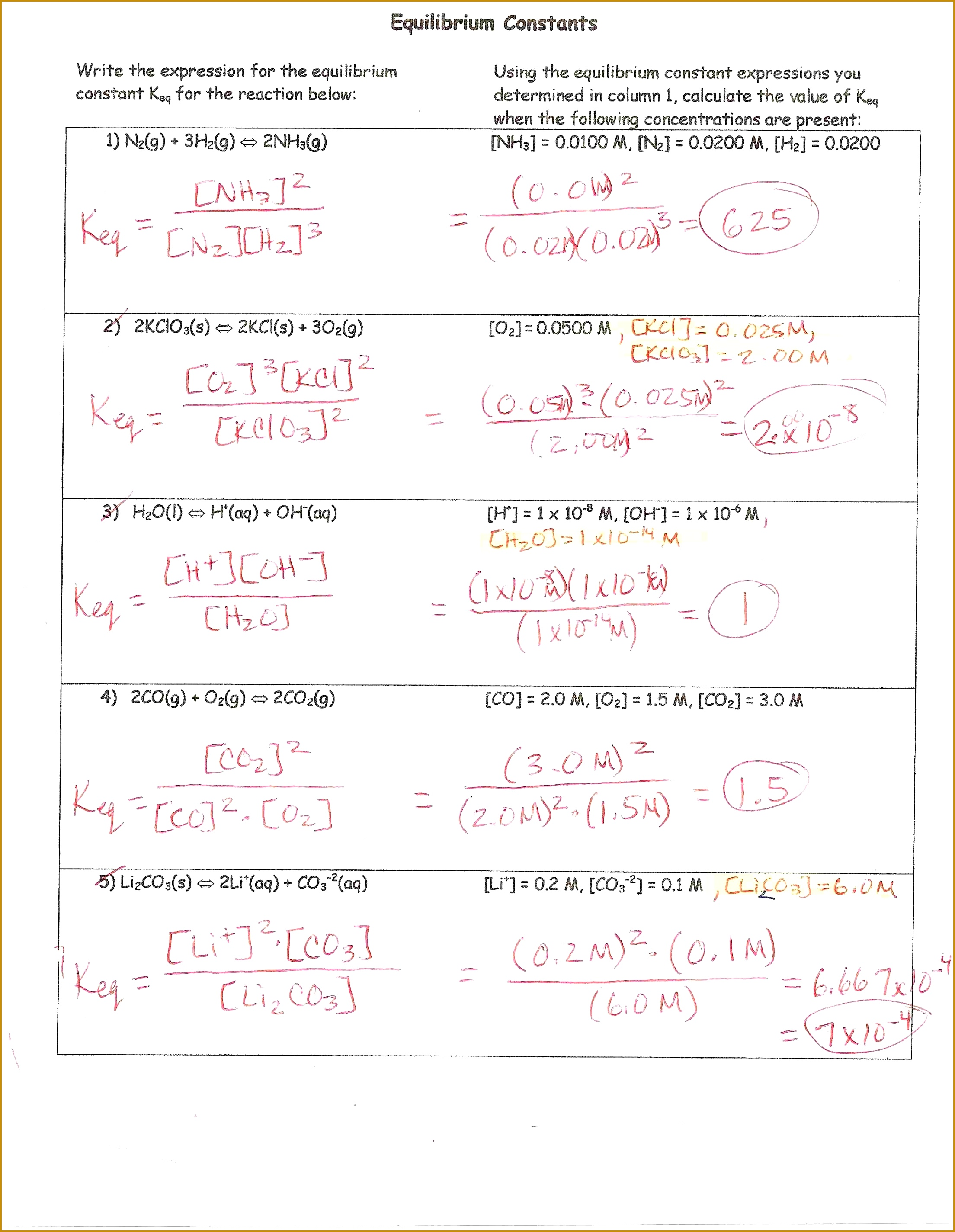 6 Stoichiometry Practice Worksheet