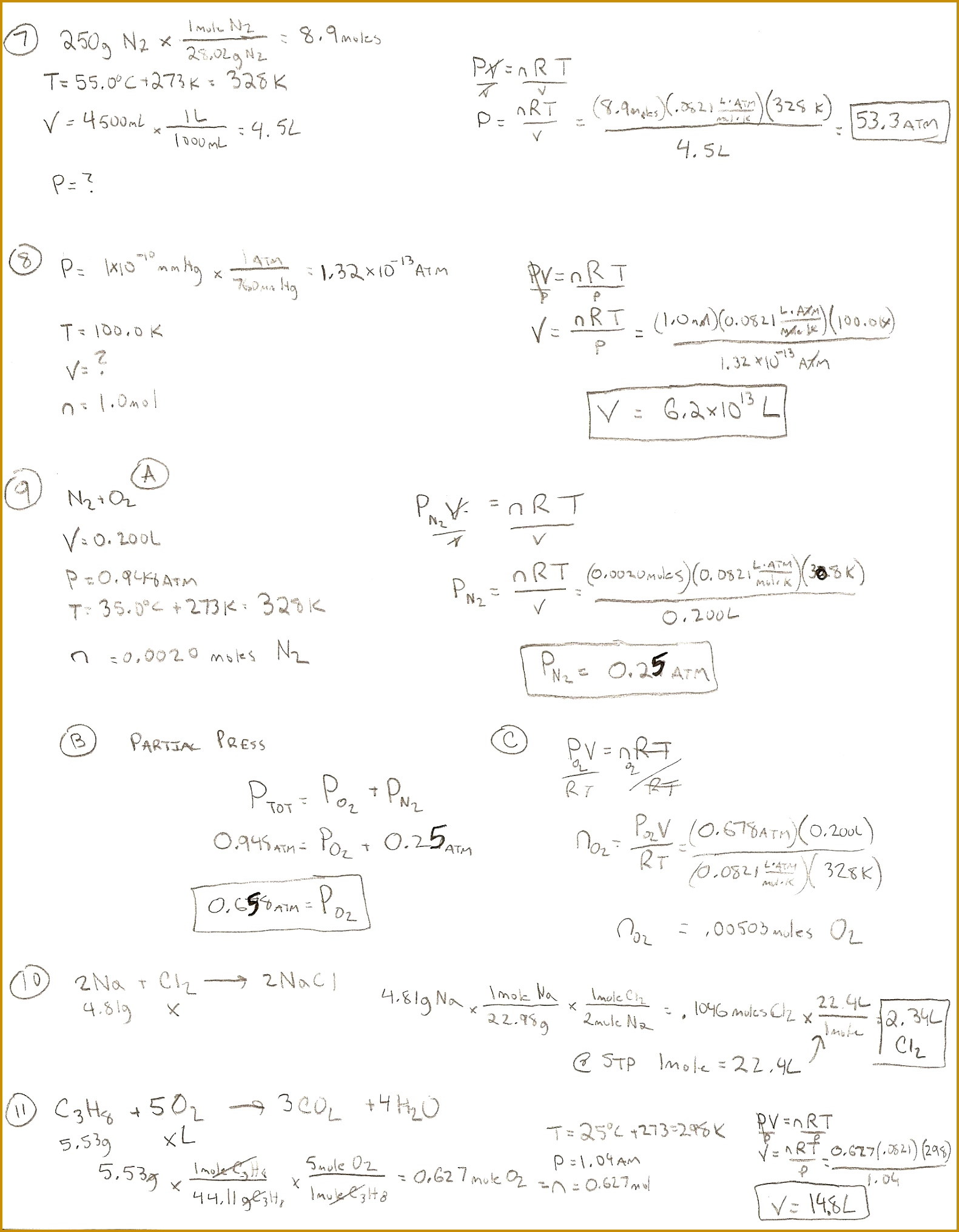 7 Stoichiometry Worksheet 2 Answer Key