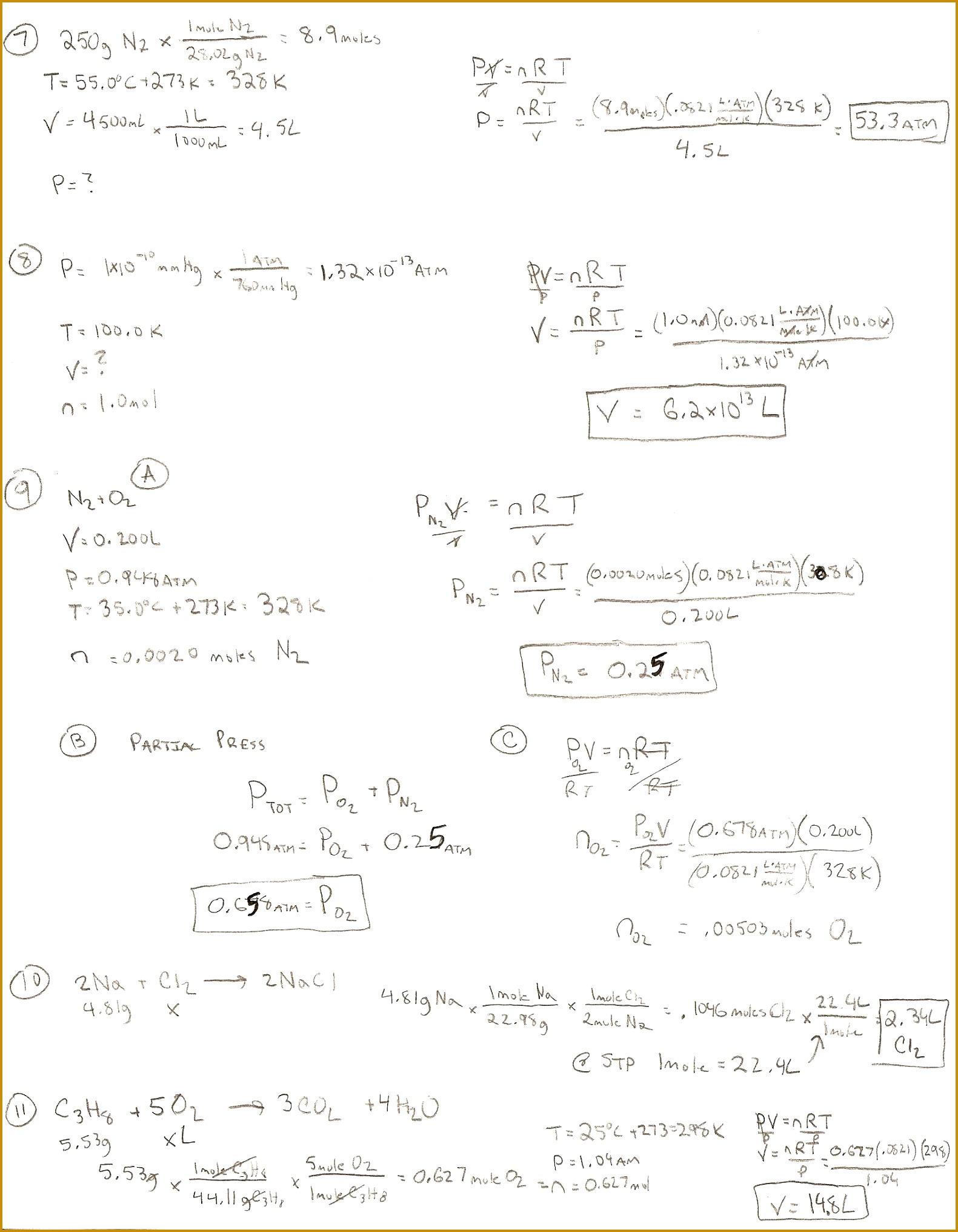 Stoichiometry Worksheet Doc