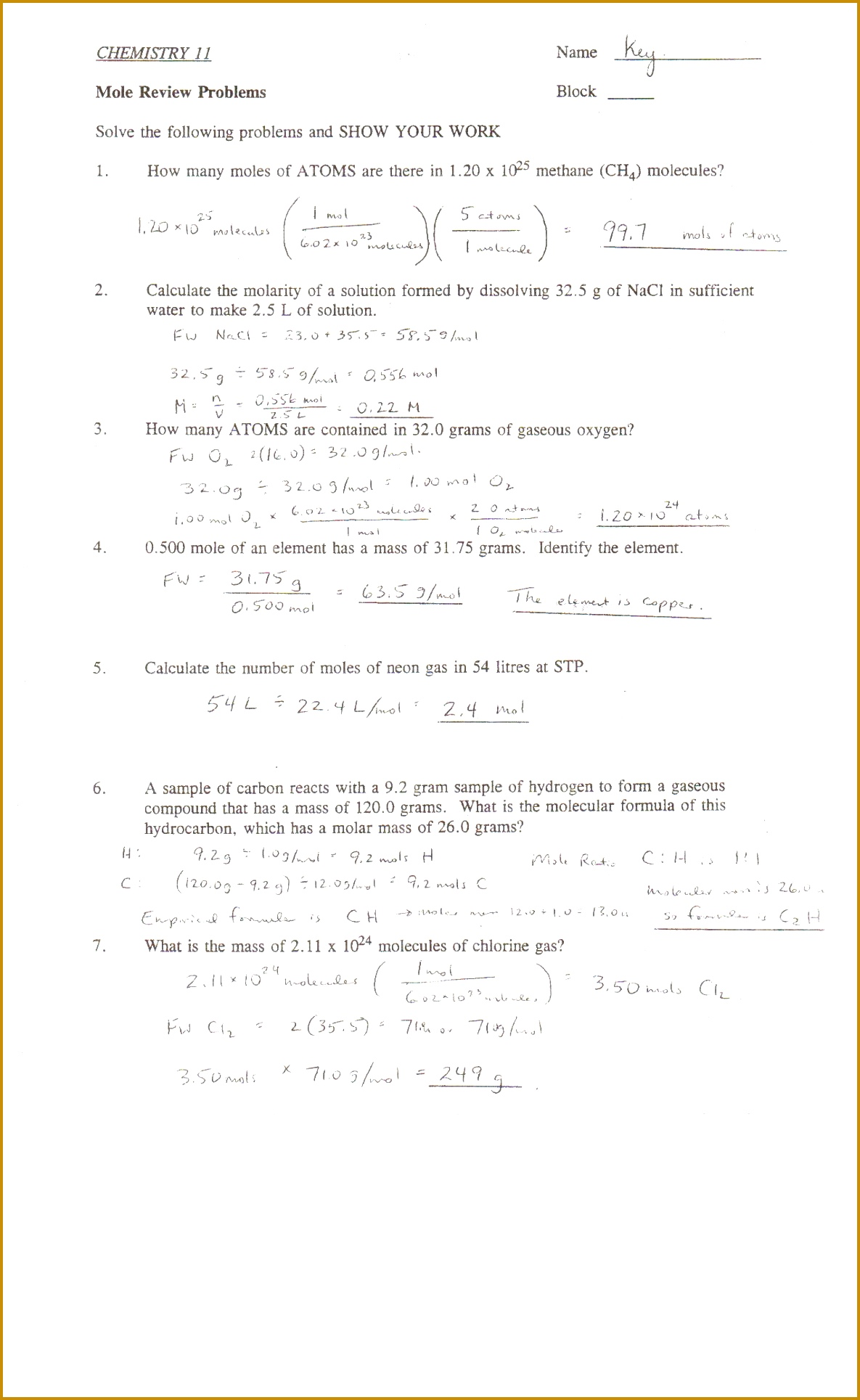 4 Stoichiometry Worksheet Answers