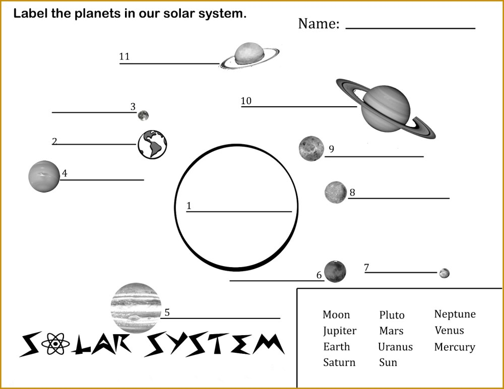 medium resolution of Fourth Grade Solar System Worksheets   Printable Worksheets and Activities  for Teachers