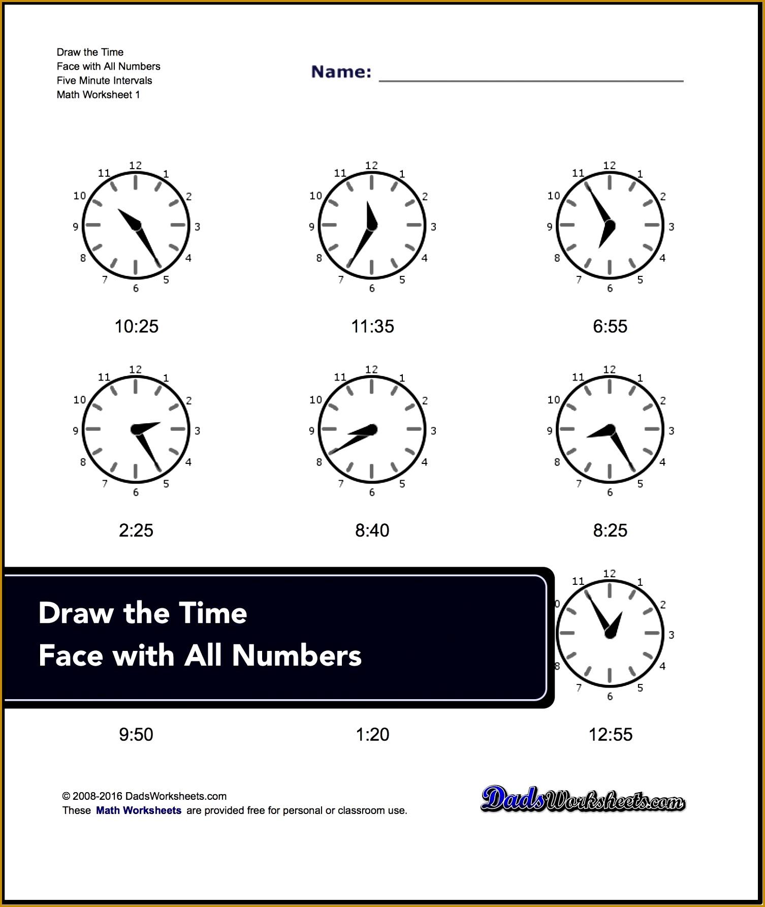 4 Time Worksheets