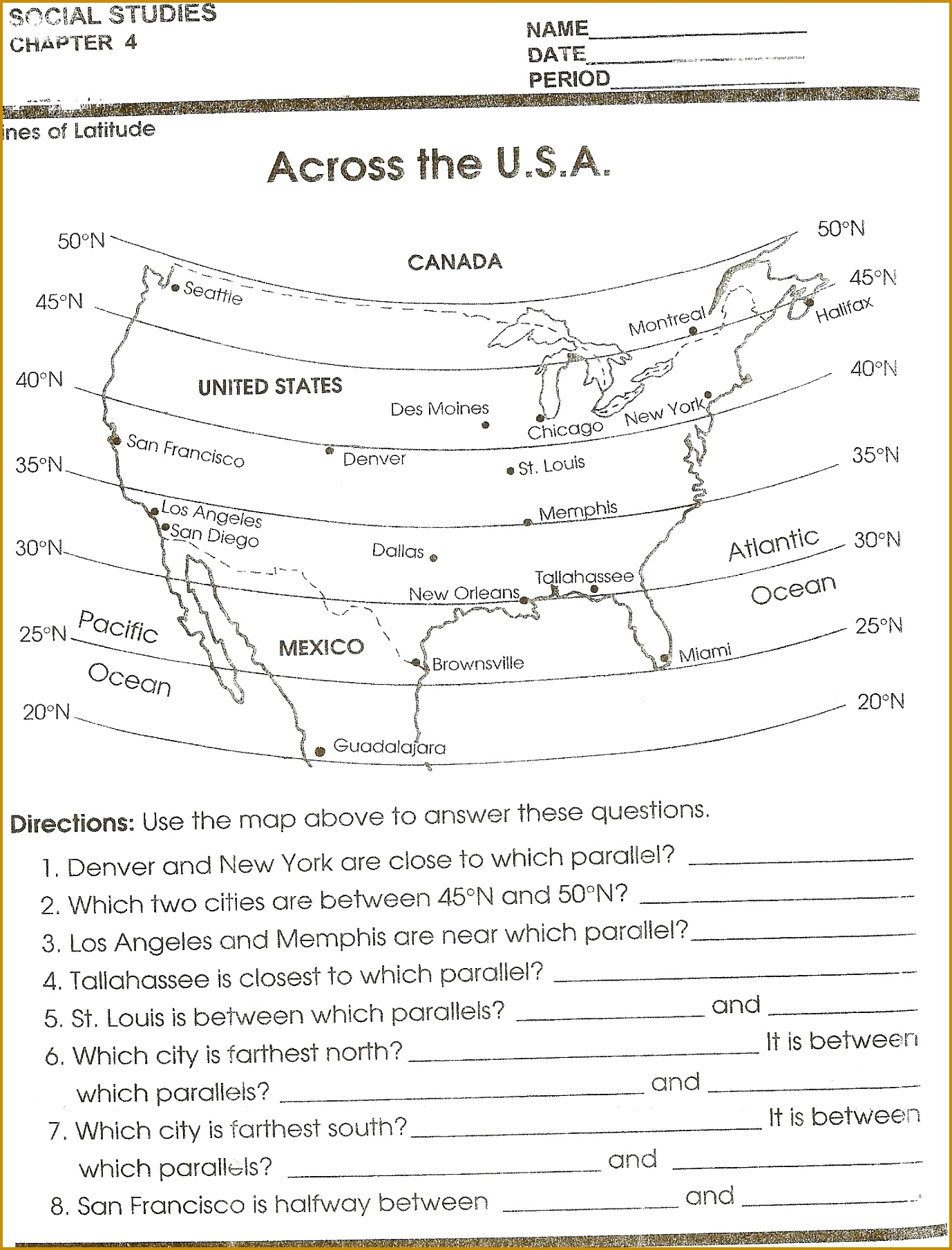 3 Topographic Map Reading Worksheet Answers