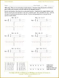 6 Worksheet Piecewise Functions   FabTemplatez