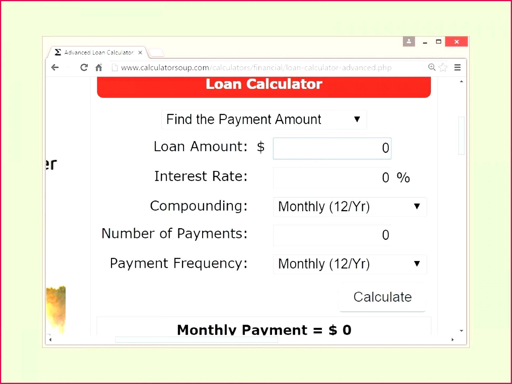 5 Loan Amortization Excel Template