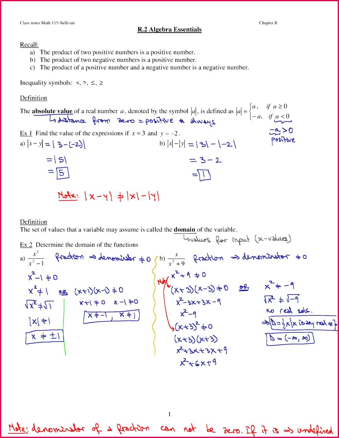Class 10 Notes Quadratic Equation Exercise 1 2