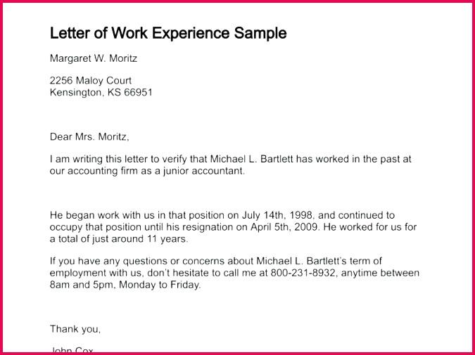 7 Work Experience Certificate Sample Doc 65336   FabTemplatez