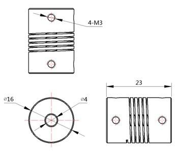 Buy Makeblock Flexible coupling 4x4mm Online in India