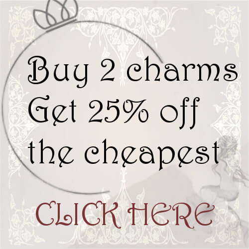 Click here to take advantage of our 2 charms get 2nd 25% discounted!