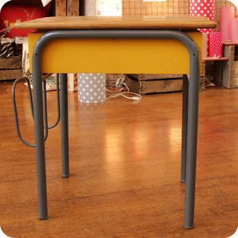 Meubles vintage  Bureaux  tables  Ancien bureau dcolier avec portecartable  Fabuleuse Factory