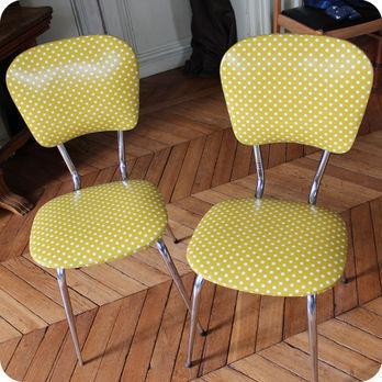 Meubles vintage  Chaises  fauteuils  Chaise de cuisine annes 60  Fabuleuse Factory