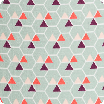 Abat jour design pour lampe lampadaire ou suspension en tissu motif scandinave  Hexagone
