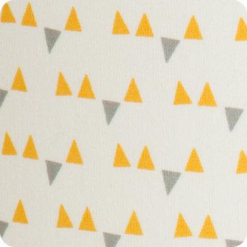 Abat jour ou suspension pour chambre enfant en tissu motif scandinave jaune  Mistinguett yellow