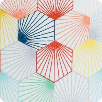 Applique murale design en tissu motif scandinave hexagone  Kaleidoscope