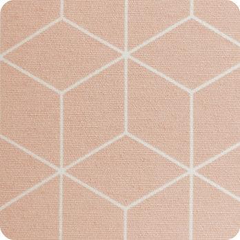 Abat jour design pour lampe lampadaire ou suspension en tissu motif gometrique pastel  Cubic rose