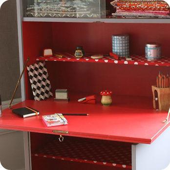 Meubles vintage  Bureaux  tables  Grand secrtaire annes 70  Fabuleuse Factory