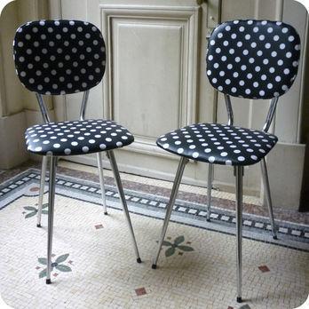 Meubles vintage  A restaurer  votre got  Paire de chaises de cuisine annes 60  Fabuleuse