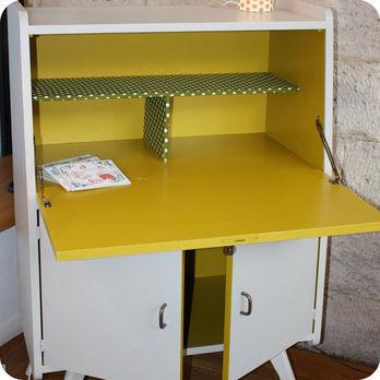 Meubles vintage  Bureaux  tables  Petit secrtaire annes 50  Fabuleuse Factory
