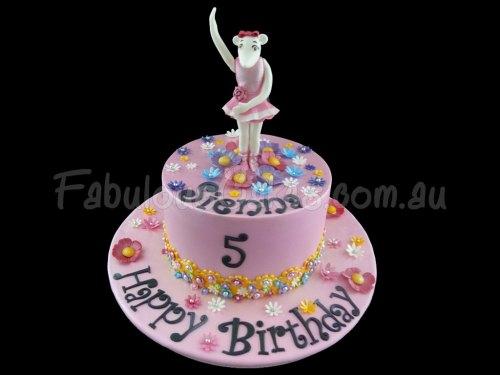 Angelina Ballerina Pink Birthday Cake