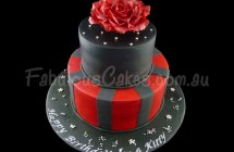 Black and Red Birthday Cakes