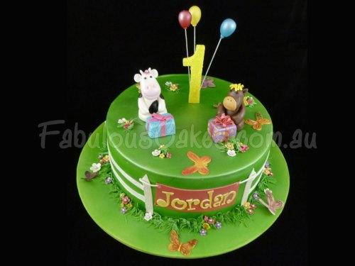 First Green Birthday Cake