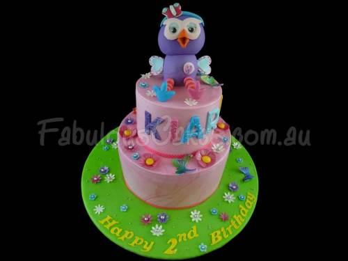 Hootabelle 2nd Birthday Cake