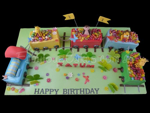 Train Cake for 1st Birthday