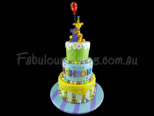 1st Birthday Cake – Boy – Ashton