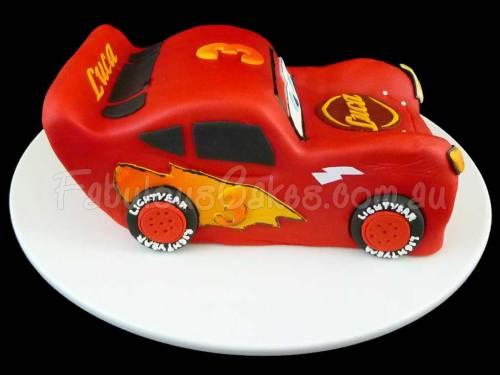 Lightning Mcqueen Birthday Cake