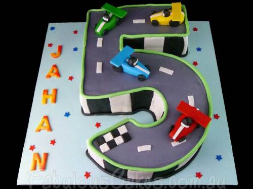 Racing Track Birthday Cake