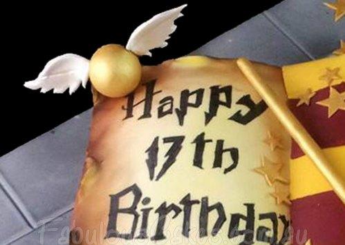 Harry Potter Book of Spell Cake