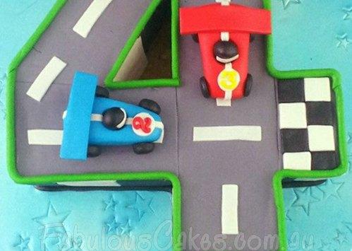 Racing Track Cake