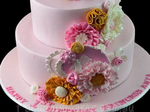 1st Birthday Cake for a Girl