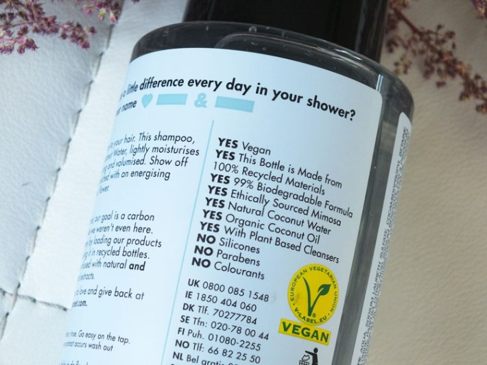 Inci lijst vegan shampoo