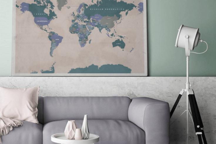 Wereldkaart canvas kopen canvascompany winactie